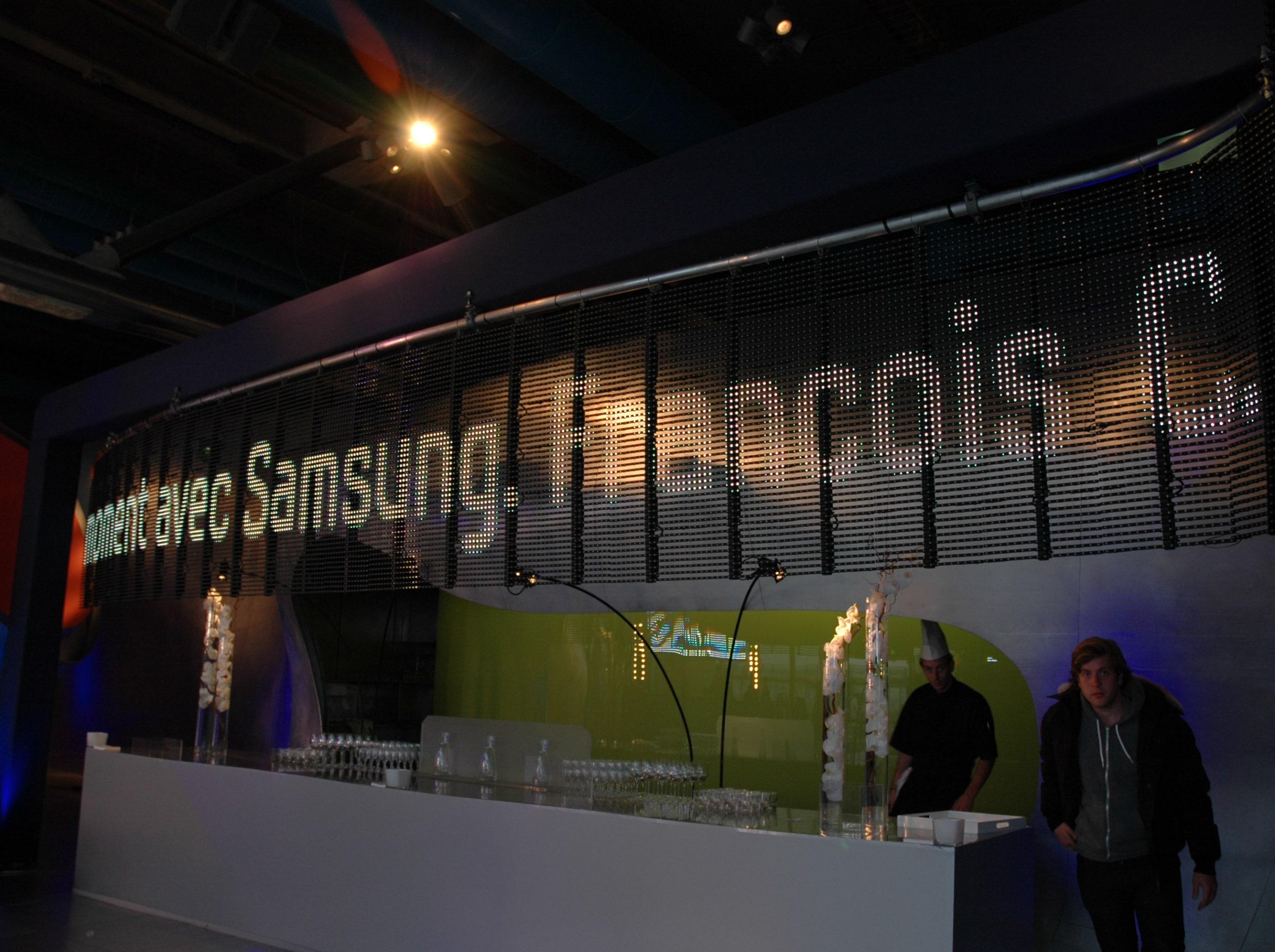 écran géant led 40 ANS SAMSUNG