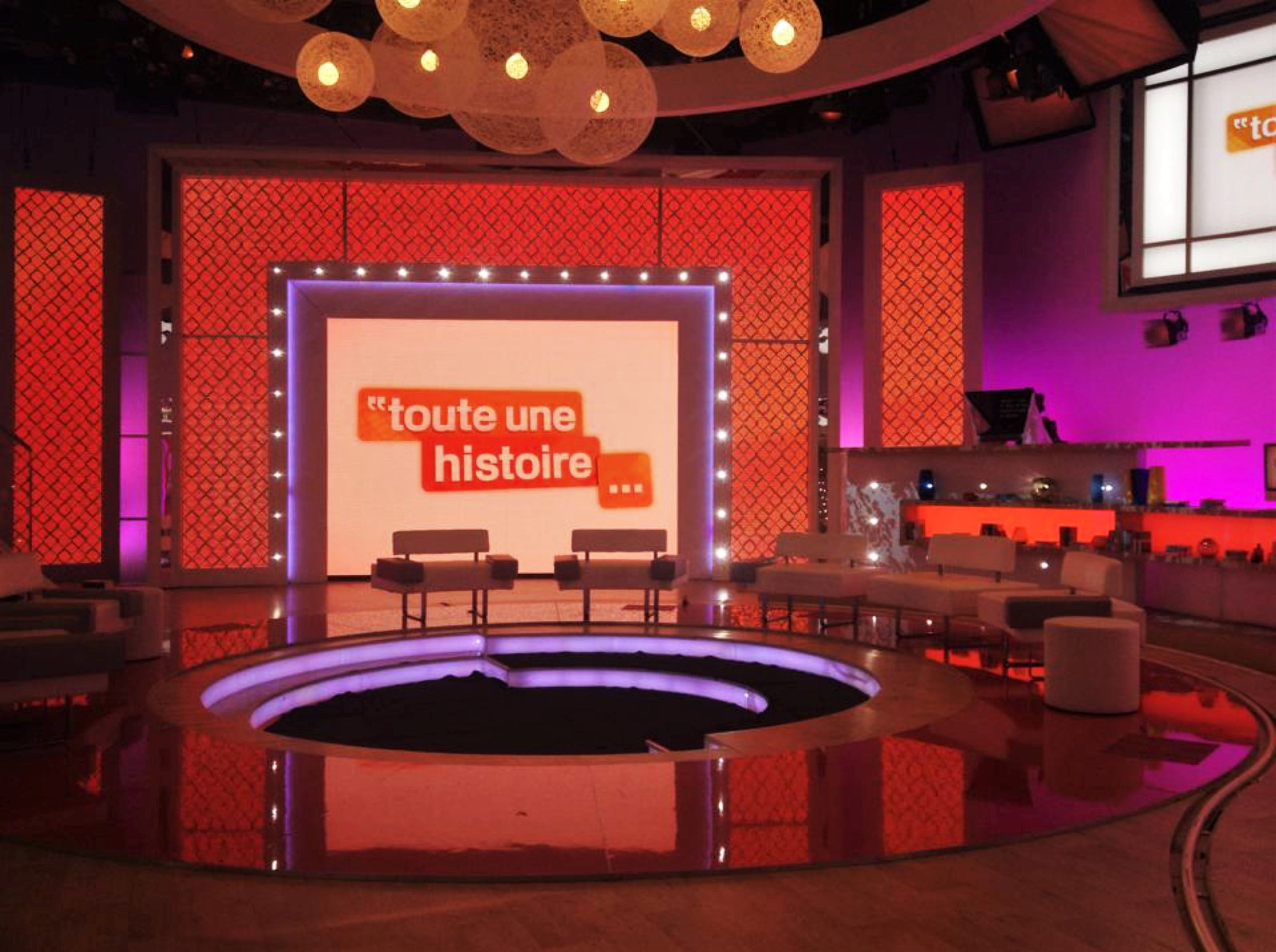 Plateau tv de L'histoire continue